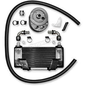 Jagg Black 10-Row Horizontal Low-Mount Oil Cooler  - 750-2400
