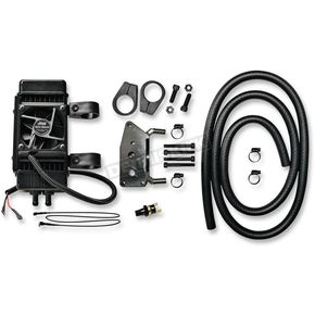 Jagg Gloss Black 10-Row Vertical Frame-Mount Fan-Assisted Oil Cooler Kit  - 761-FP2600
