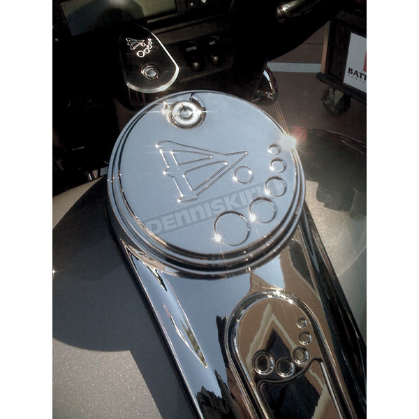 Battistinis Chrome Fuel Door Cover - 03-602