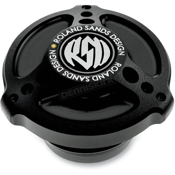 Roland Sands Design Black Ops Tracker Fuel Gauge Cap with LED Fuel Gauge - 0210-2016-SMB