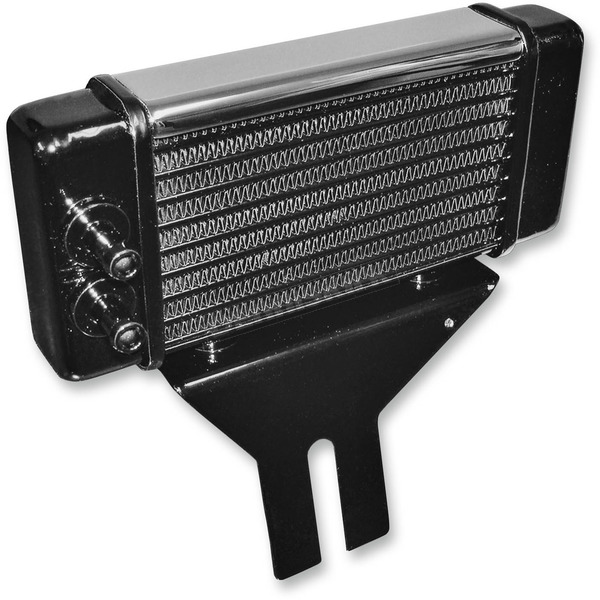 Jagg Chrome 10-Row Horizontal Low-Mount Oil Cooler  - 750-2580