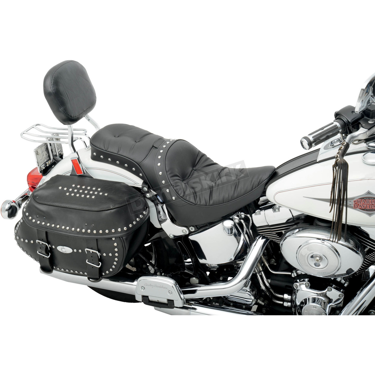 Drag Specialties Studded Pillow One Piece Solo Seat W