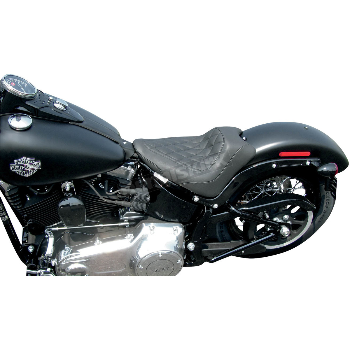Mustang Motorcycle Seats Black Wide Tripper Solo Seat