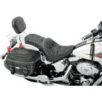 Studded Pillow One Piece Solo Seat w/Driver Backrest Option - 0802-0728