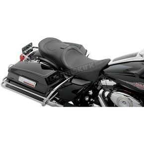 Drag Specialties Low-Profile Touring Seat w/EZ Glide Backrest and Black Pinstripe - 0801-0511