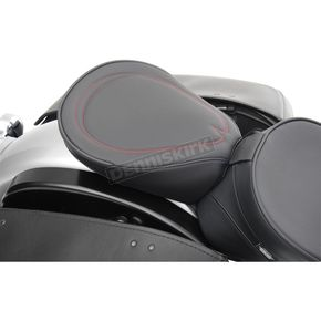 Drag Specialties Wide Pillion w/Red Pinstripe - 0801-0519