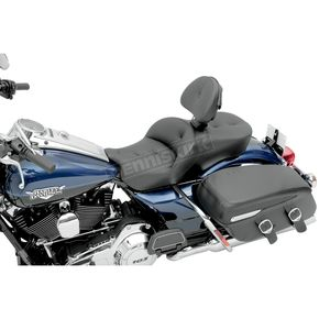 Saddlemen Road Sofa Low Profile Deluxe Touring Seat w/Driver Backrest - 0801-0625