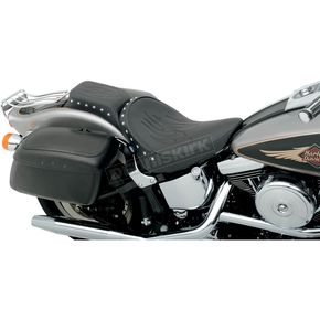 Drag Specialties Studded Flame Chopped One Piece Solo Seat - 0802-0722