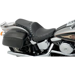 Drag Specialties Studded Smooth One Piece Solo Seat w/Driver Backrest Option - 0802-0732