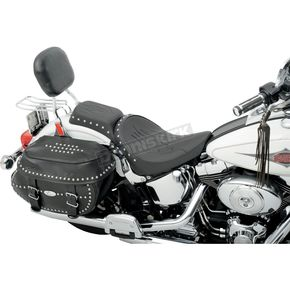 Drag Specialties Studded Flame Chopped One Piece Solo Seat - 0802-0740