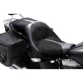 Danny Gray Black Leather TourIST 2-Up Air Seat - FA-DGE-0322