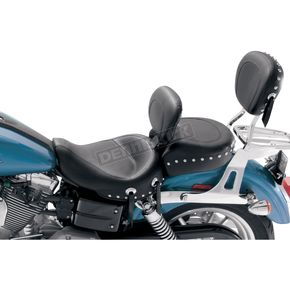 Mustang Seats 16 1/2 in. Wide Studded Solo Seat w/Removable Backrest - 79346