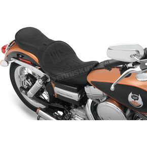Drag Specialties Low-Profile Flame Touring Seat w/Dual Backrest Capability - 0803-0356