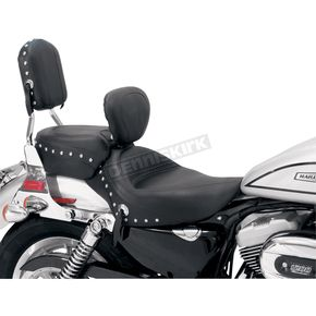 Mustang Seats 15 in. Wide Studded Solo Seat w/Removable Backrest - 79437