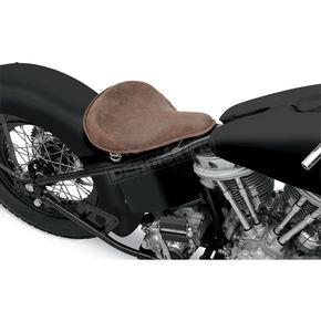 Drag Specialties Distressed Brown Leather Large Spring Solo Seat w/Perimeter Stitched - 0806-0050