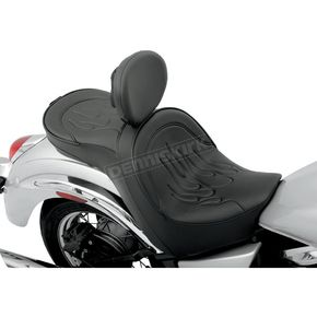 Parts Unlimited Flame Stitch Low-Profile Double-Bucket Seat with Backrest - 0810-0682