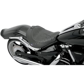 Parts Unlimited Black Flame Stitch Solo Front Seat with Optional Backrest - 0810-0731