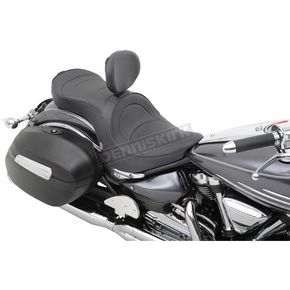 Parts Unlimited Mild Stitch Low-Profile Double-Bucket Seat with Backrest - 0810-0752