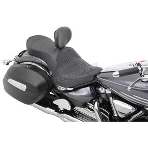 Parts Unlimited Flame Stitch Low-Profile Double-Bucket Seat with Backrest - 0810-0753