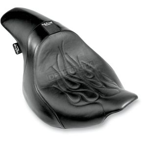 Danny Gray Flames Stitched Short Hop 2-Up XL with Driver Backrest Receptacle - YMC11901F