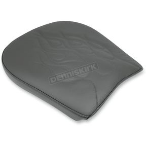 Danny Gray Wide Flame Stitched Pillion Pad - YMC-817P1-02-F
