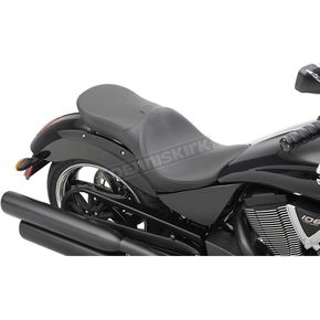 Drag Specialties Black Smooth Low-Profile Touring Seat  - 0810-1605