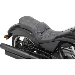 Drag Specialties Black Pillow-Style Low-Profile Touring Seat  - 0810-1607