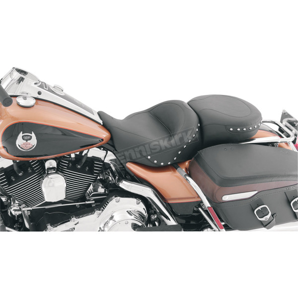 Mustang Seats Smooth One-Piece Ultra Touring Seat w/Chrome Studs - 76034