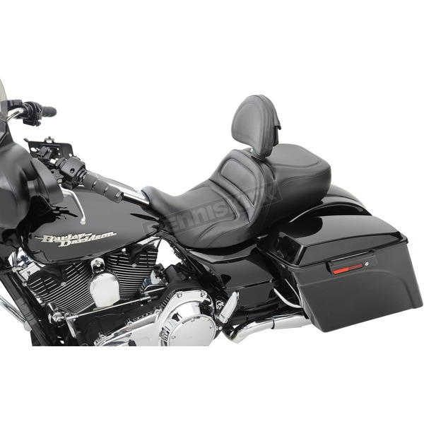 Saddlemen Low Profile Explorer Seat w/Driver Backrest  - 808-07B-0302