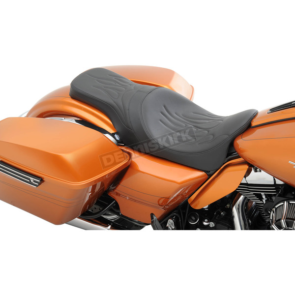 Drag Specialties Flame Stitch Predator 2-Up Seat - 0801-0953