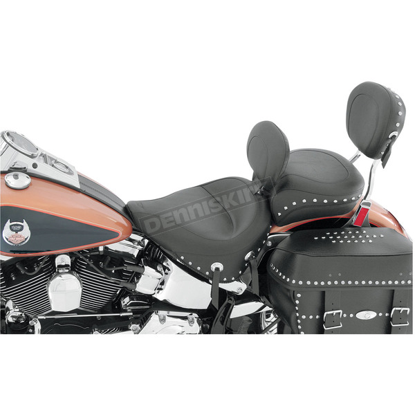 Mustang Seats 17 1/2 in. Wide Studded Solo Seat w/Removable Backrest - 79485