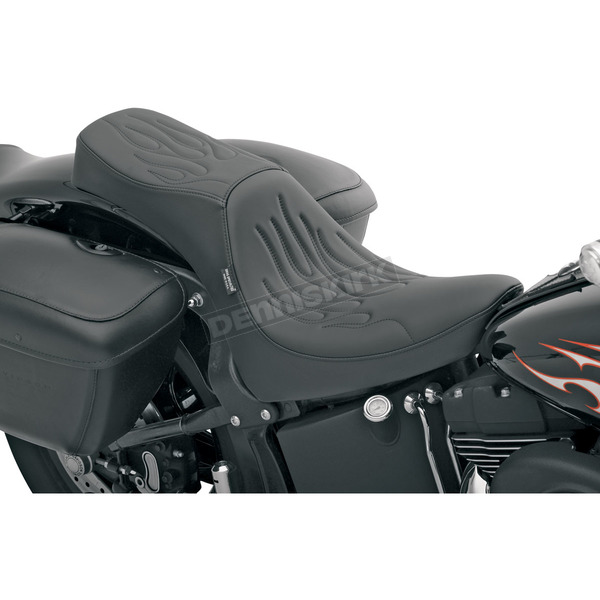 Drag Specialties Flame Stitched Predator 2-Up Seat - 0802-0500