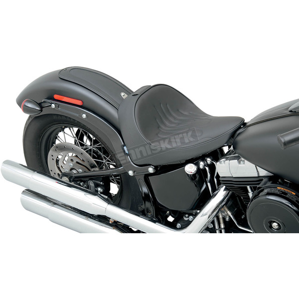 Drag Specialties Flame Solo Seat w/Optional EZ Glide Backrest System - 0802-0785
