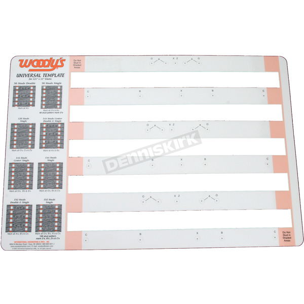 Woodys Universal Studding Template - COMB-TEMP