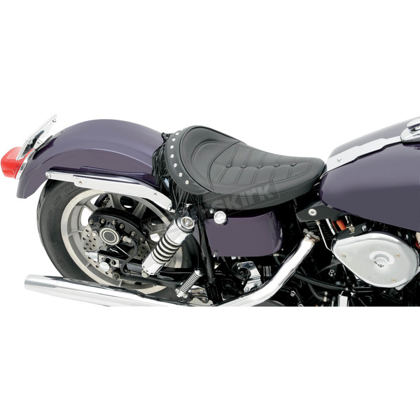 Drag Specialties Scorpion Stitch Wide Solo Seat w/Removable Fringe - 0805-0083