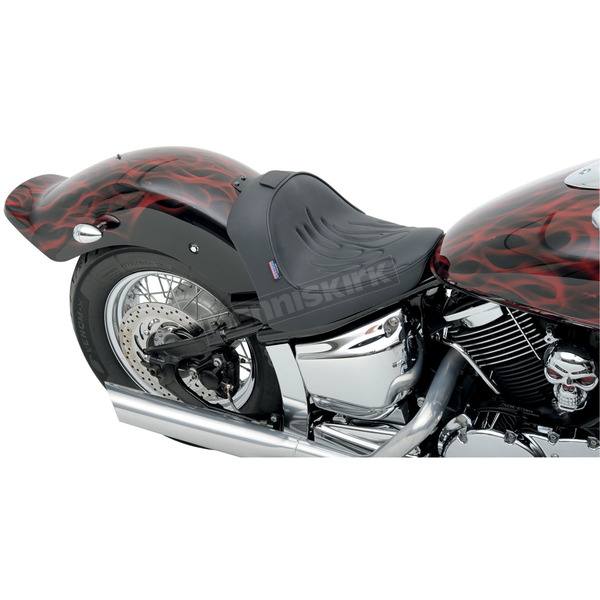 Parts Unlimited Flame Stitch Solo Front Seat with Optional Backrest - 0810-0727