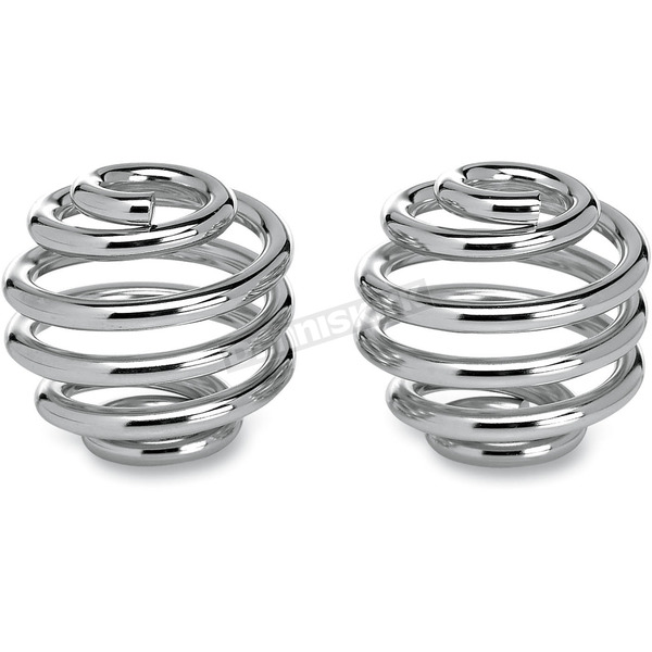 Lowbrow Customs 2 in. Chrome Plated Barrel Seat Spring - 001474