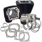 Wrinkle Black Powder-Coat XL 1200 to 1250 Convertion Big Bore Kit  - 910-0446
