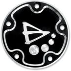 5-Hole Black Anodized Derby Cover  - 03-303