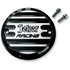 Black Anodized 2 Hole Finned Joker Racing Point Cover - 02-98JFB