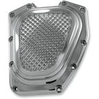 Chrome Cross Cut Cam Cover - TC-936