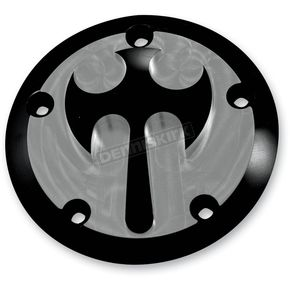 Thunder Cycle Designs Black 3-D Thunder Cross 5-Bolt Points Cover - TC039B