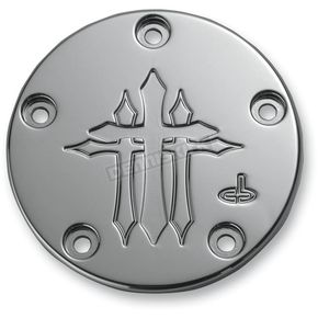 Carl Brouhard Designs Chrome Cross Points Cover - CR-0002-C