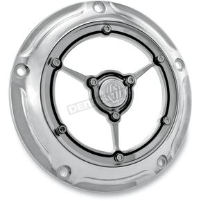 Roland Sands Design Chrome Clarity Derby Cover - 0177-2006-CH