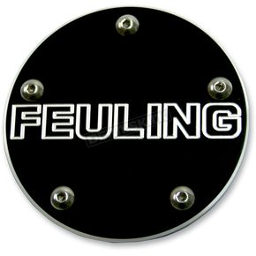Feuling Motor Company Black Contrast Cut Feuling Logo Point Cover - 9126