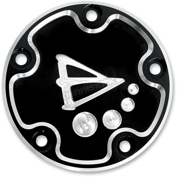 Battistinis 5-Hole Black Anodized Derby Cover  - 03-303