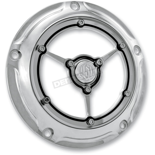 Roland Sands Design Chrome Clarity Derby Cover - 0177-2007-CH