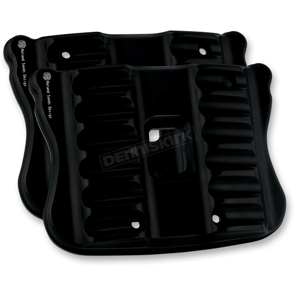 Roland Sands Design Gloss Black RSD Nostalgia Rocker Box Cover for Sportster - 0177-2023-B