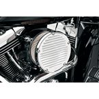 Chrome Big Sucker Derby Cover Air Filter Kit w/Stainless-Steel Jacketed Pre-Oiled Filter - 18-374