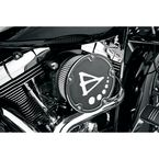 Black Big Sucker Derby Cover Air Filter Kit w/Stainless-Steel Jacketed Pre-Oiled Filter - 18-376
